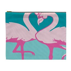 Pink Flamengo Cosmetic Bag (xl) by AnjaniArt