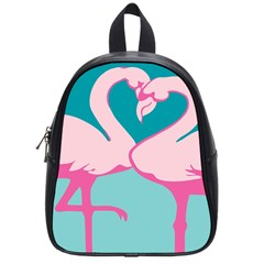 Pink Flamengo School Bags (small)  by AnjaniArt