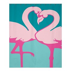 Pink Flamengo Shower Curtain 60  X 72  (medium)  by AnjaniArt