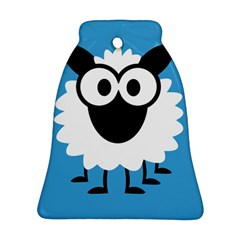 Sheep Animals Bleu Ornament (bell)  by AnjaniArt