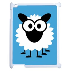 Sheep Animals Bleu Apple iPad 2 Case (White)