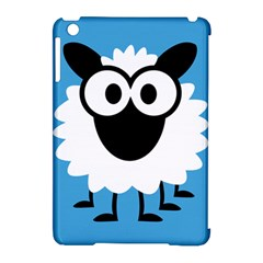 Sheep Animals Bleu Apple iPad Mini Hardshell Case (Compatible with Smart Cover) by AnjaniArt