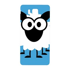 Sheep Animals Bleu Samsung Galaxy Alpha Hardshell Back Case by AnjaniArt