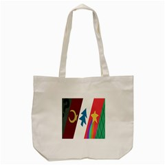 Star Color Tote Bag (cream) by AnjaniArt