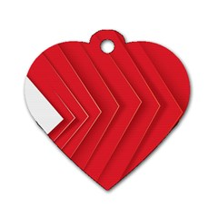 Rank Red White Dog Tag Heart (one Side) by AnjaniArt
