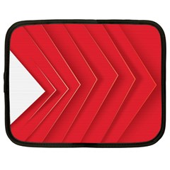 Rank Red White Netbook Case (xxl)  by AnjaniArt