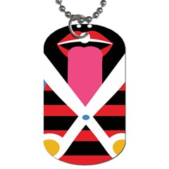 Scissors Tongue Dog Tag (two Sides) by AnjaniArt