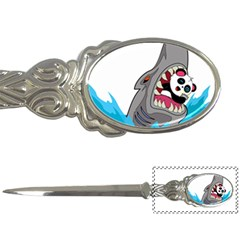 Panda Sharke Blue Sea Letter Openers by AnjaniArt