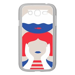 Woman Samsung Galaxy Grand Duos I9082 Case (white) by AnjaniArt