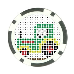Tractor Perler Bead Poker Chip Card Guards (10 Pack)  by AnjaniArt