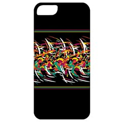 Colorful Barbwire  Apple Iphone 5 Classic Hardshell Case by Valentinaart