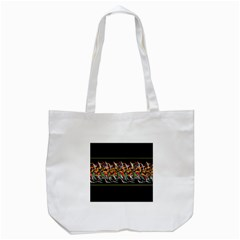 Colorful Barbwire  Tote Bag (white) by Valentinaart