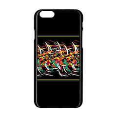 Colorful Barbwire  Apple Iphone 6/6s Black Enamel Case by Valentinaart