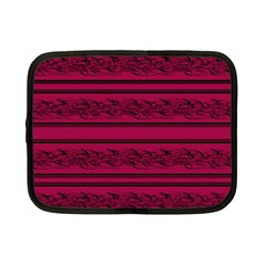 Red Barbwire Pattern Netbook Case (small)  by Valentinaart