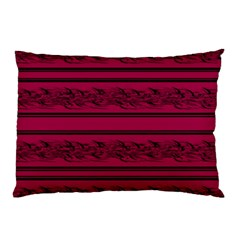 Red Barbwire Pattern Pillow Case by Valentinaart