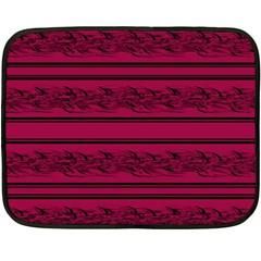 Red Barbwire Pattern Double Sided Fleece Blanket (mini)  by Valentinaart