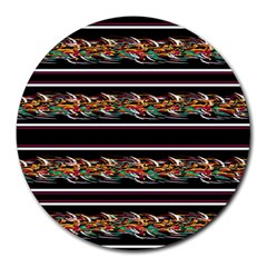 Colorful barbwire Round Mousepads by Valentinaart