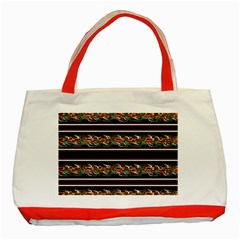 Colorful Barbwire Classic Tote Bag (red) by Valentinaart