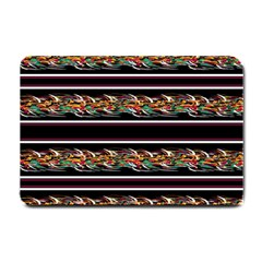Colorful Barbwire Small Doormat  by Valentinaart