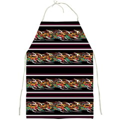 Colorful Barbwire Full Print Aprons by Valentinaart