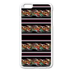 Colorful Barbwire Apple Iphone 6 Plus/6s Plus Enamel White Case by Valentinaart