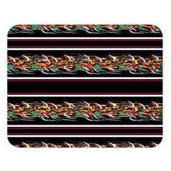 Colorful Barbwire Double Sided Flano Blanket (large)  by Valentinaart