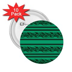 Green barbwire 2.25  Buttons (10 pack)  by Valentinaart