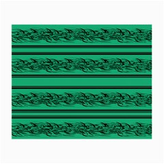 Green Barbwire Small Glasses Cloth by Valentinaart