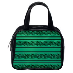 Green Barbwire Classic Handbags (one Side) by Valentinaart