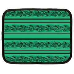 Green Barbwire Netbook Case (xl)  by Valentinaart
