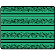Green Barbwire Fleece Blanket (medium)  by Valentinaart