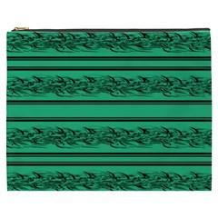 Green Barbwire Cosmetic Bag (xxxl)  by Valentinaart