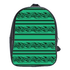 Green Barbwire School Bags (xl)  by Valentinaart
