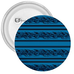Blue Barbwire 3  Buttons by Valentinaart