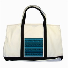 Blue Barbwire Two Tone Tote Bag by Valentinaart