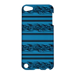 Blue Barbwire Apple Ipod Touch 5 Hardshell Case by Valentinaart
