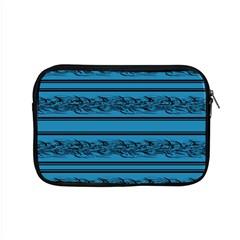 Blue Barbwire Apple Macbook Pro 15  Zipper Case by Valentinaart