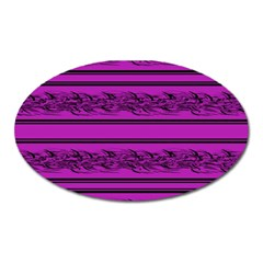 Magenta Barbwire Oval Magnet by Valentinaart