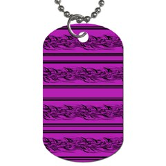 Magenta Barbwire Dog Tag (one Side) by Valentinaart