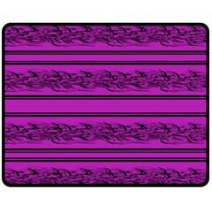 Magenta Barbwire Fleece Blanket (medium)  by Valentinaart