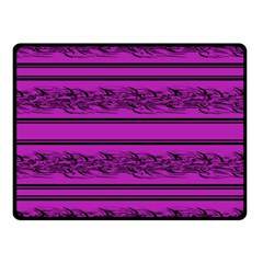 Magenta Barbwire Fleece Blanket (small) by Valentinaart