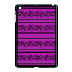Magenta Barbwire Apple Ipad Mini Case (black) by Valentinaart