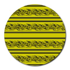 Yellow Barbwire Round Mousepads by Valentinaart