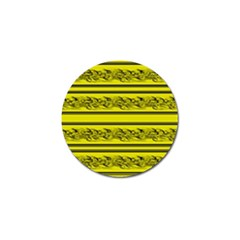 Yellow Barbwire Golf Ball Marker (4 Pack) by Valentinaart
