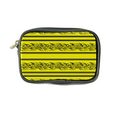 Yellow Barbwire Coin Purse by Valentinaart