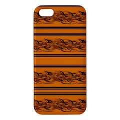 Orange Barbwire Pattern Iphone 5s/ Se Premium Hardshell Case by Valentinaart