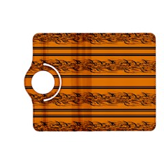Orange Barbwire Pattern Kindle Fire Hd (2013) Flip 360 Case by Valentinaart