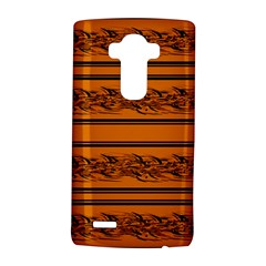 Orange Barbwire Pattern Lg G4 Hardshell Case by Valentinaart