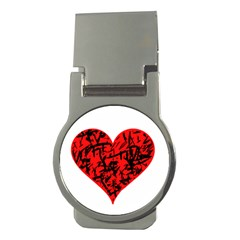 Valentine Hart Money Clips (round)  by Valentinaart