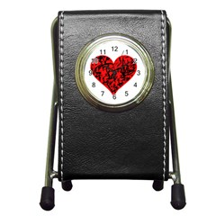 Valentine Hart Pen Holder Desk Clocks by Valentinaart